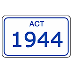 ACT Number Plate  1944