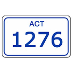 ACT Number Plate  1276
