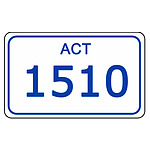ACT Number Plate  1510