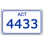 ACT Number Plate  4433