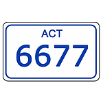 ACT Number Plate  6677