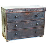 Ancient 17th Century English Oak Chest