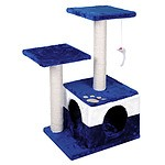 Cat Scratching Poles Post Furniture Tree House Blue - Brand New