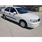 8/2004 Nissan Pulsar ST N16 MY04 4d Sedan White 1.8L