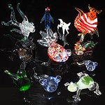 Collection of Small Art Glass Animals