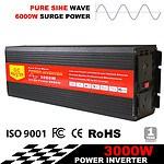 Pure Sine Wave 3000W Max 6000W 12V-240V Power Inverter Car Caravan Camping Boat - Brand New