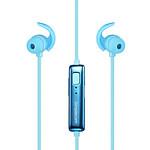 Simplecom BH310 Metal In-Ear Sports Bluetooth Stereo Headphones Blue - Brand New