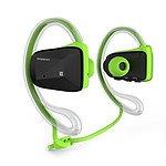 Simplecom NS200 Bluetooth Neckband Sports Headphones with NFC Green - Brand New