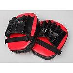 2 x Thai Boxing Punch Focus Gloves Kit Pad Mitt Karate Muay Training Red & Black - RRP $49.95 - Brand New