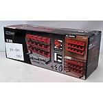 New 15-Bin Storage Rack - Red