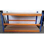 3-Layer Adjustable Racking - Demonstration Model - Yellow Orange/Blue