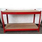 2-Layer Adjustable Racking - Demonstration Model -Red