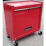 2-Drawer Chest/Cabinet Tool Box - Red