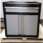 2-Door Locker with Drawer - Demonstration Model - Silver/Black