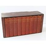 Nine Volumes of the Modern World Encyclopedia Published 1935