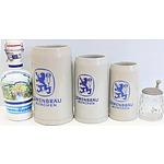 German Steins/Drinkware - Lot of Four