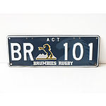 Brumbies ACT Number Plates   -  BR 101