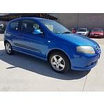 6/2008 Holden Barina  TK MY08 3d Hatchback Blue 1.6L