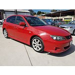 9/2007 Subaru Impreza RS (awd) MY08 5d Hatchback Red 2.0L