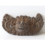 Carved and Pierced Indonesian Demon Panel
