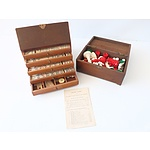 Vintage Mahjong and Assortment of Chess Pieces