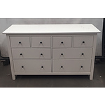 White Eight Draw Sideboard Cabinet
