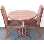 Cafe Table with Two Chairs