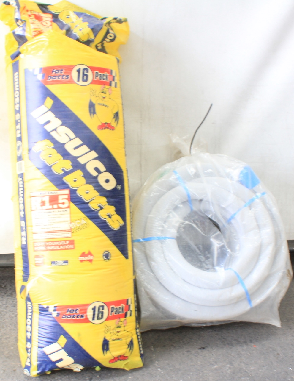 Insulco Fat Batts R1 5 Wall Insulation and Sub Soil Drainage Pipe