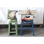 "Ryobi 10"" Table Saw and Hafco Belt/Disc Sander"