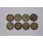 Various Three Pence Coins - Lot of 8