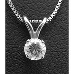 14ct White Gold Brilliant-cut Solitaire Diamond Necklace