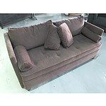 Black Fabric Upholstered Freedom Loft 2 Sofa Lounge
