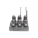 Six Icom IC-F4GS Portable UHF Radios and Multi Charging Station