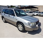 8/2001 Subaru Forester Limited MY01 4d Wagon Silver 2.0L