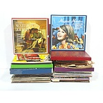 Collection of Records, Including Beethoven, Mozart, Geisha, and More