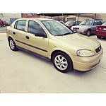 7/2005 Holden Astra Classic Equipe  5d Hatchback Gold 1.8L