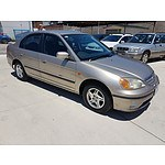 6/2002 Honda Civic GLi 7TH GEN 4d Sedan Gold 1.7L