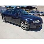 8/2001 Audi A4 2.0 B6 4d Sedan Blue 2.0L