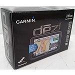 Garmin dezl 7 inch 770 LMT GPS Truck Navigator - RRP $596 - Brand New