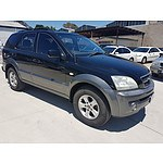 11/2003 Kia Sorento  BL 4d Wagon Black 3.5L, ACT rego until late January