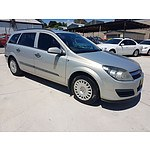 2/2006 Holden Astra CD AH MY06 4d Wagon Silver 1.8L