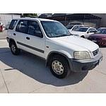 2/2000 Honda Crv (4x4)  4d Wagon White 2.0L