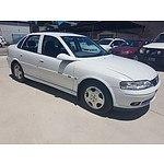 2/2002 Holden Vectra CD JSII 4d Sedan White 2.2L