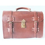 Vintage Tanned Leather Briefcase