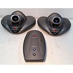 Lot of 2 Polycom VSX 7000 PAL Video Conferencing System Base Unit Camera - RRP=$800.00