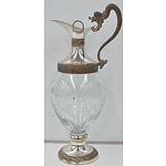 Glass and Silver Plated Claret Jug