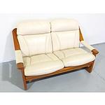 Vintage Tessa Maple and Leather Lounge