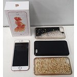 Apple iPhone 6S 128GB Rose Gold and 3 Cases