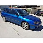 10/2003 Hyundai Elantra 2.0 HVT XD 4d Hatch Blue 2.0L