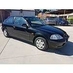 12/1997 Honda Civic CXi  3d Hatchback Black 1.6L